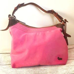 Dooney & Bourke Pink Nylon Shoulder Hobo Bag